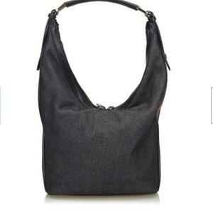 Gucci Bags - Gucci Black Denim Fabric Shoulder Bag